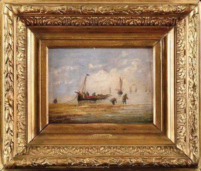 Pierre Julien GILBERT (1783-1860) Scène marine...