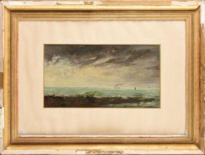 Louis MARTINET (1810-1894) Marine, 1878 Huile...