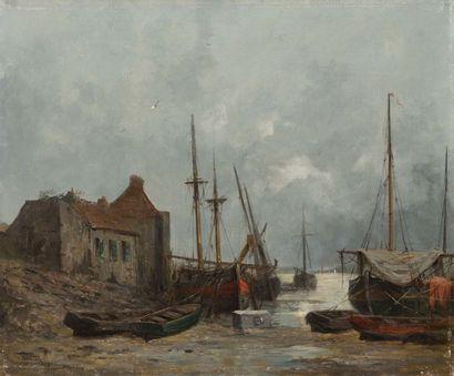Jules VERNIER (1862-1937) Port de Conquet,...