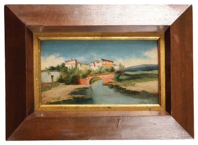 Ricardo DIAQUE (1863-1925) Paysage de provence...