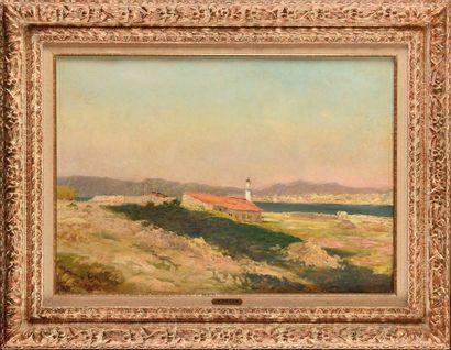 Paul VOGLER (1852-1904) Bord de mer Huile...