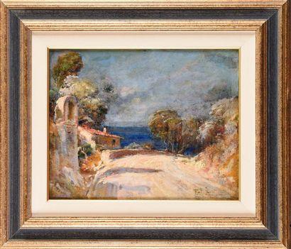 Paul LEVERE ( 1875-1949) Route de Cassis,...