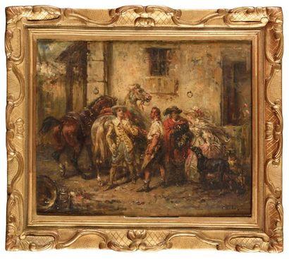 Eugène Louis LAMI (1800-1890) Chez le Maréchal...