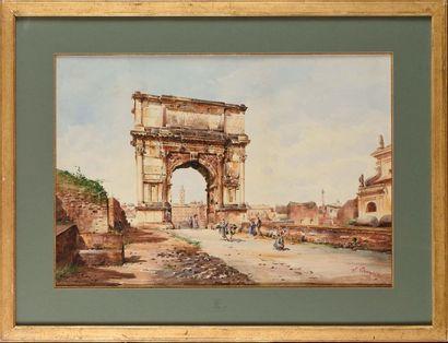 Stefano DONADONI (1844-1911) L'Arc de Titus...