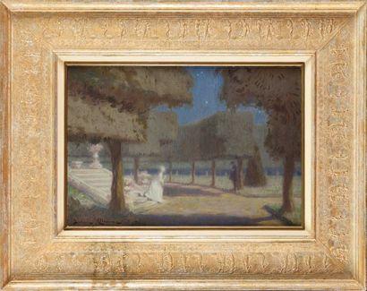 Ludovic ALLEAUME (1859-1941) Paradis Nocturnes,...