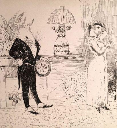 Edmond CUISINIER (1857-1917) Ensemble de...