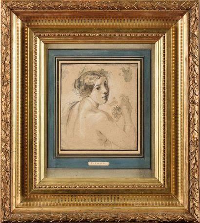 Ecole Française du XIXe siècle, dans le goût de Thomas COUTURE (1815-1879) Portrait...