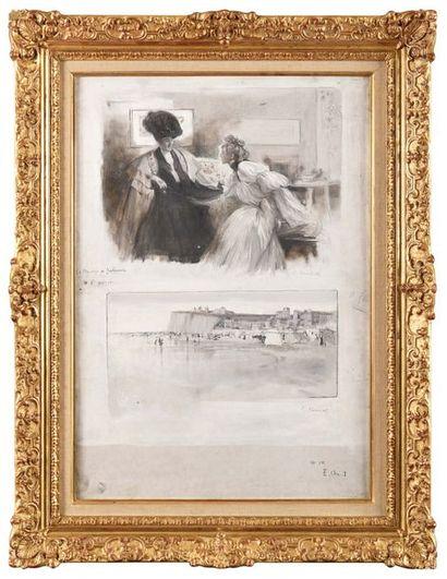 Serafino MACCHIATI (1860-1916) Le mariage...