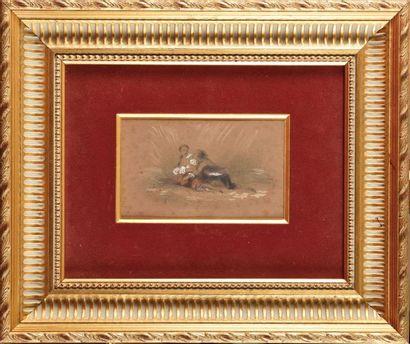 Pierre Edouard FRERE (1819-1886) Scène galante...
