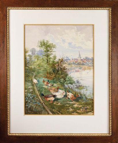 Hippolyte Jean Adam GIDE (1852-1921) Défilé...