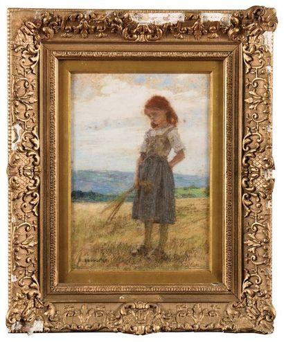Léon Augustin LHERMITTE (1844-1925) Jeune...