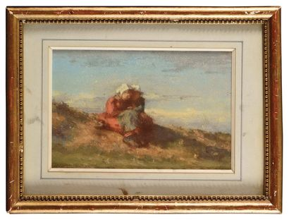Edouard BAILLE (1814-1888) Jeunes Bretonnes...