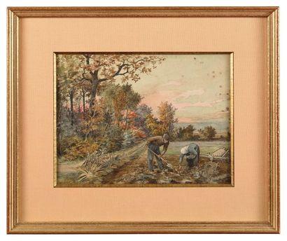 Alphonse REY (1865-1938) Le ramassage des...