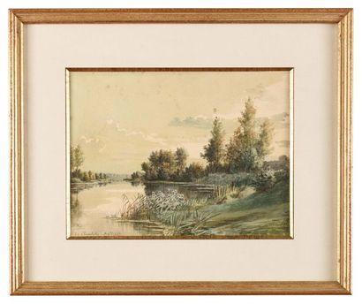 Alphonse REY (1865-1938) Etang à la Chapelette...