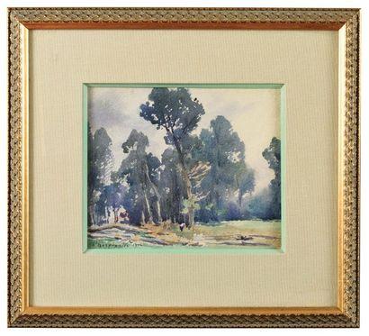 Henri Joseph HARPIGNES (1819-1916) Paysage...