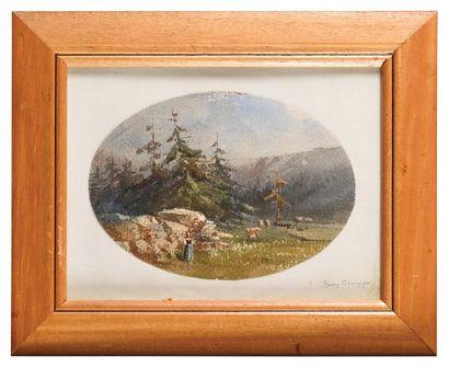 Jean-Henri CHOUPPE (1817-1894) Sur la Montagne...