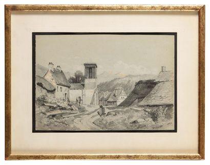 Jean-Henri CHOUPPE (1817-1894) L'Eglise du...
