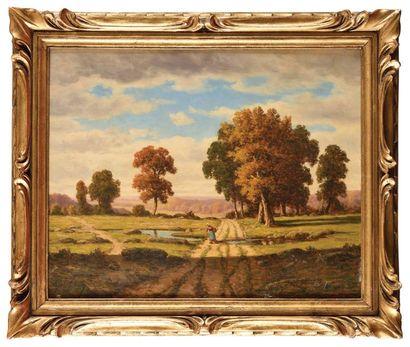 Adrien SCHULZ (1851-1931) Forêt de Fontainebleau...