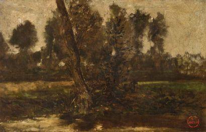 Emile Adélard BRETON (1831-1902) Sous-bois...