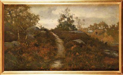 Léon Germain PELOUSE (1838-1891) Rochers,...