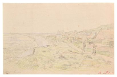 Charles DESAVARY (1837-1885) Cayeux, Somme...