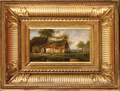 Jules ROZIER (1821-1882) Ferme en Normandie...