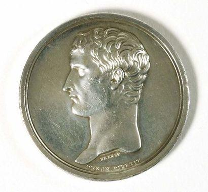 Médaille en argent par Brenet. Avers : «...