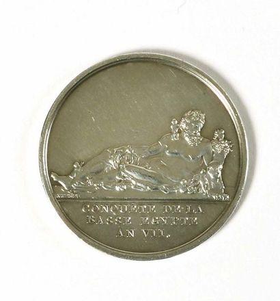 Médaille en argent par Brenet. « Conquête...