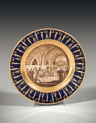 Sèvres Assiette en porcelaine du service...