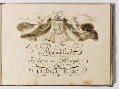 TURPIN DE CRISSE, attribué à. « Les Romances...