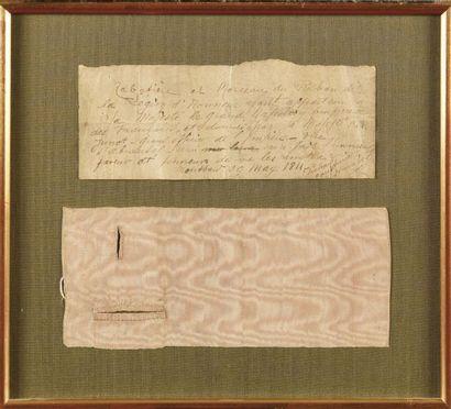 Fragment de morceau de ruban de la Légion...