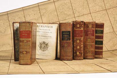 Quatre almanachs impériaux du Premier Empire...