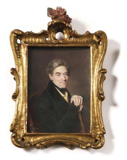 François MEURET (1800 -1887) Miniature de...