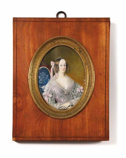 Aimée THIBAULT (1780-1868) Grande miniature...