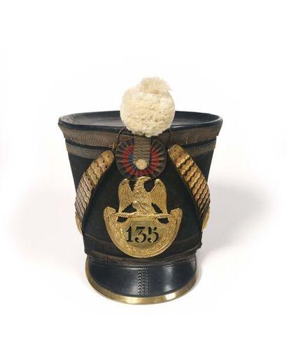 Shako dit de colonel en second du 135e régiment...