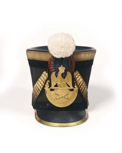 Shako d'officier d'artillerie modèle 1812....