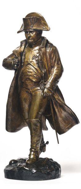 Jules Edmond MASSON (1871-1932). « L'Empereur Napoléon Ier » en pied, en marche....