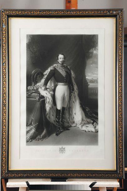 WINTERHALTER, d'après. « L'Empereur Napoléon III et l'Impératrice Eugénie » Paire...