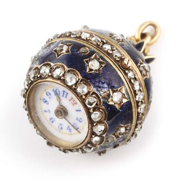 """""""Boule de Genève"""" watch in yellow gold, circa 1900 Body in finely guilloched and..."""