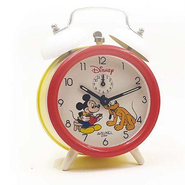 Réveil Mickey et Plutot, vers 1985 Boitier...