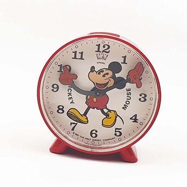 Réveil Mickey Mouse, vers 1987 Boitier rond...