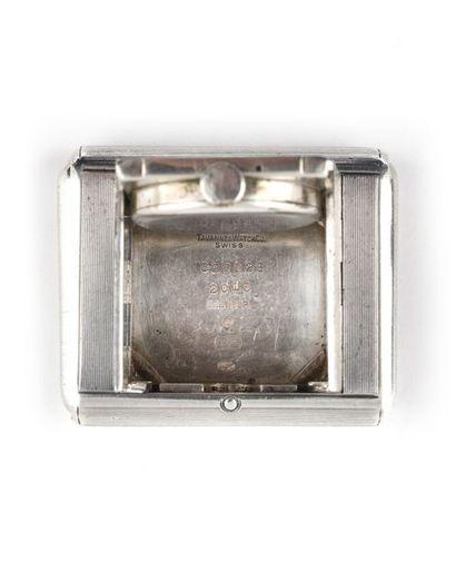 "TAVANNES POUR DUNHILL ""Captive"" ref.825925 around 1930 Bag watch, rectangular silver..."