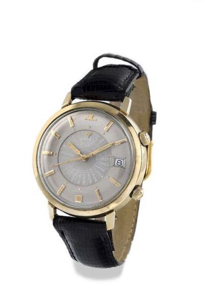 "The ""Memovox GMT World Time"" ""Memovox"" school around 1960 Rare bracelet watch with..."