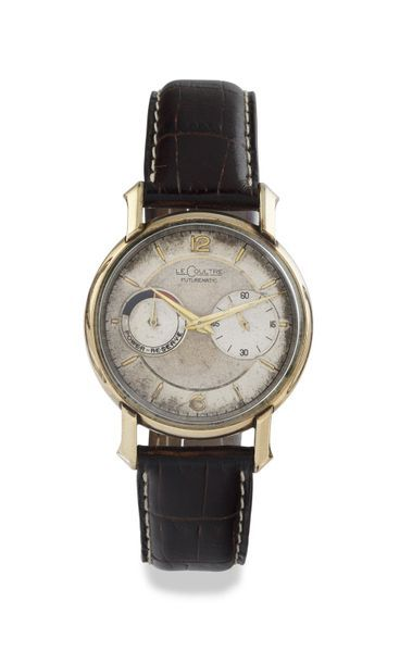 """LECOULTRE """"Futurematic"""" around 1955 """"10 micron"""" plated pink gold bracelet watch,..."""