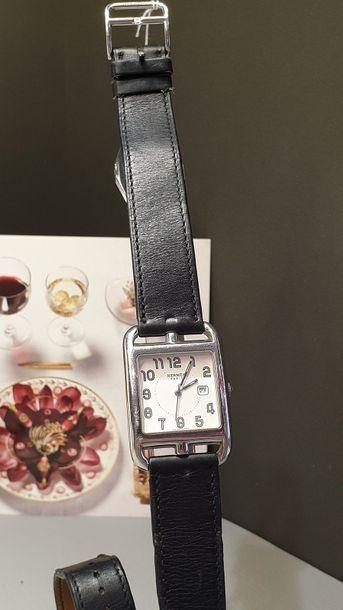 "HERMÈS Paris ""CAPE COD"" ref. CC 2.710 around 2005. Mixed steel bracelet watch, large..."