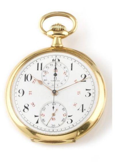 OMEGA « Chronographe » vers 1910 Montre chronographe...