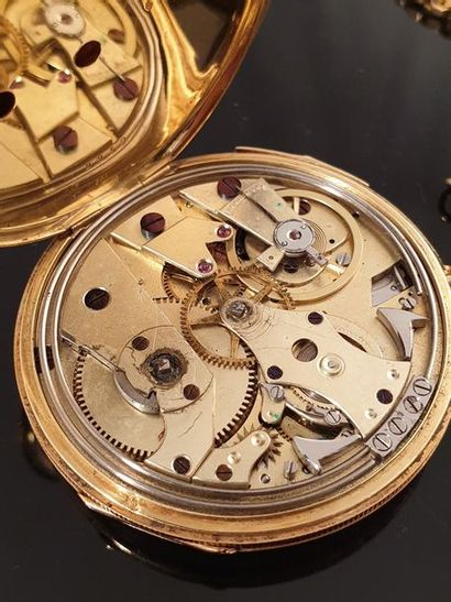 BREGUET, Pocket watch with bell n°1509, repetitions, 1846. Case in 18k yellow gold...