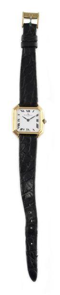 BAUME & MERCIER POUR O.J PERRIN circa 1970 Ladies' wristwatch, square case with...
