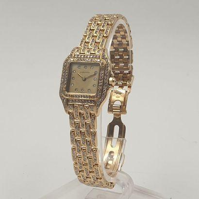CARTIER « Panthère », vers 1990 Montre bracelet...
