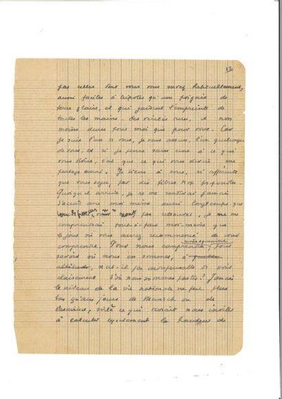 BERNANOS (Georges). Fragment de manuscrit....